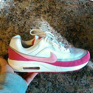 Nike air pink/white sneakers